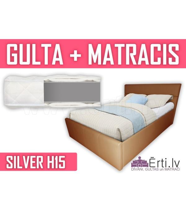 Romeo + Silver H15 - Mūsdienīgas ādas gultas un be...