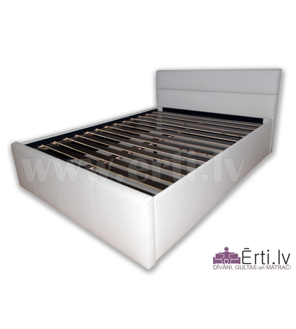 Romeo - Stilīga ādas gulta ar ļoti mīkstu galvgali...