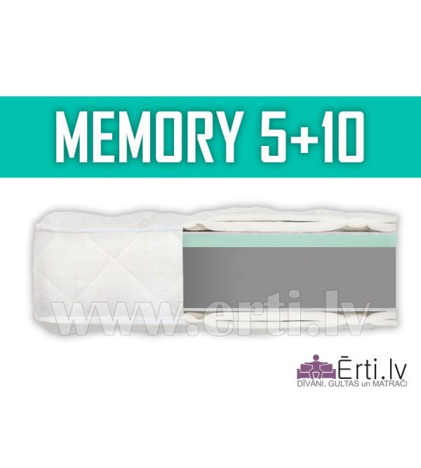 Memory 5+10 - Bezatsperu matracis ar atmiņas efekt...
