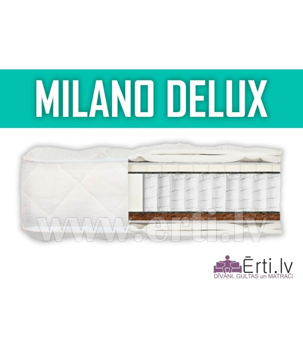Milano DeLux - Kvalitatīvs gultas matracis ar lateksu un kokosa šķiedru