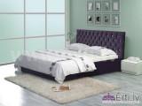 Cambridge plus - Auduma vai eko-ādas gulta ar pogām un veļaskasti