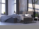 Ella - Mūsdienīga eko-ādas gulta - Laba cena