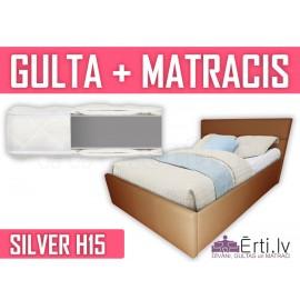 Romeo + Silver H15 - Mūsdienīgas ādas gultas un bezatsperu matrača komplekts tikai 479 Eur