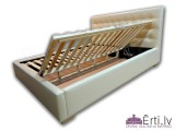 Oniks II B - Mūsdienīga eko-ādas gulta ar veļaskasti