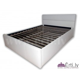 Romeo - Stilīga ādas gulta ar ļoti mīkstu galv...