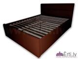 Romeo - Stilīga ādas gulta ar ļoti mīkstu galvgali