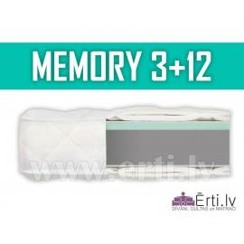 Memory 3+12 - Bezatsperu matracis ar Memory Foam p...