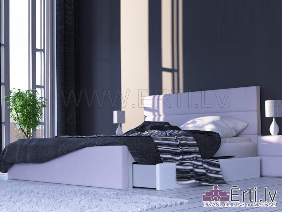 Horizont LUX – Современная кровать с ящиком для белья