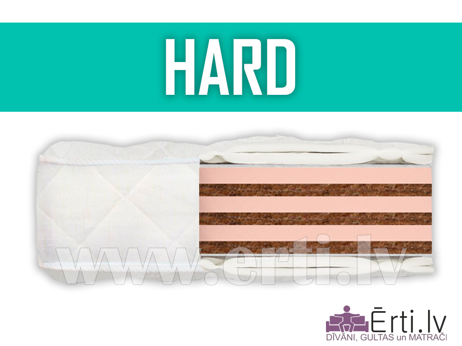 Hard – Ortopēdisks bezatsperu matracis