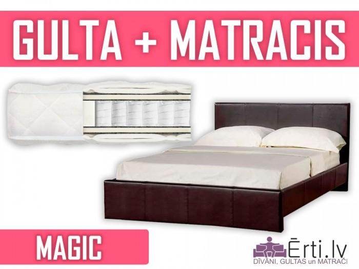 Melisa + Magic – Комплект: двухспальная кровать с pocket матрасом