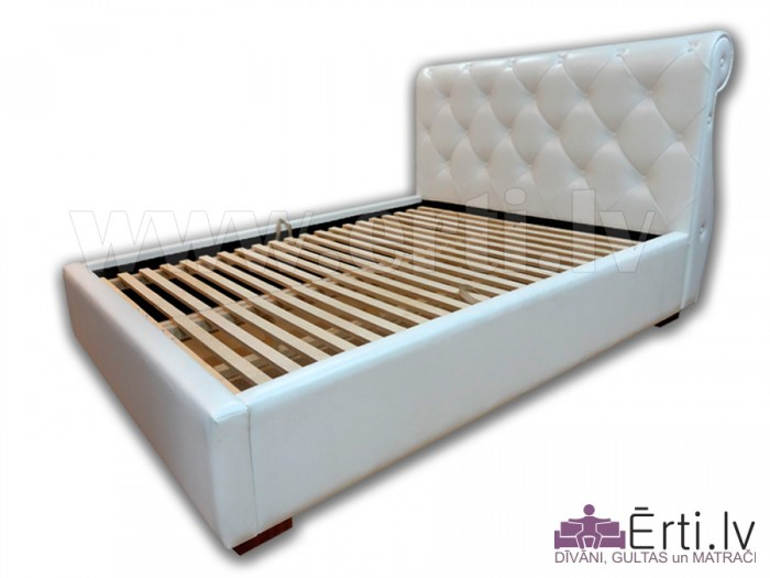 Viola B – Современная кровать в классическом стиле из эко-кожи с ящиком для белья