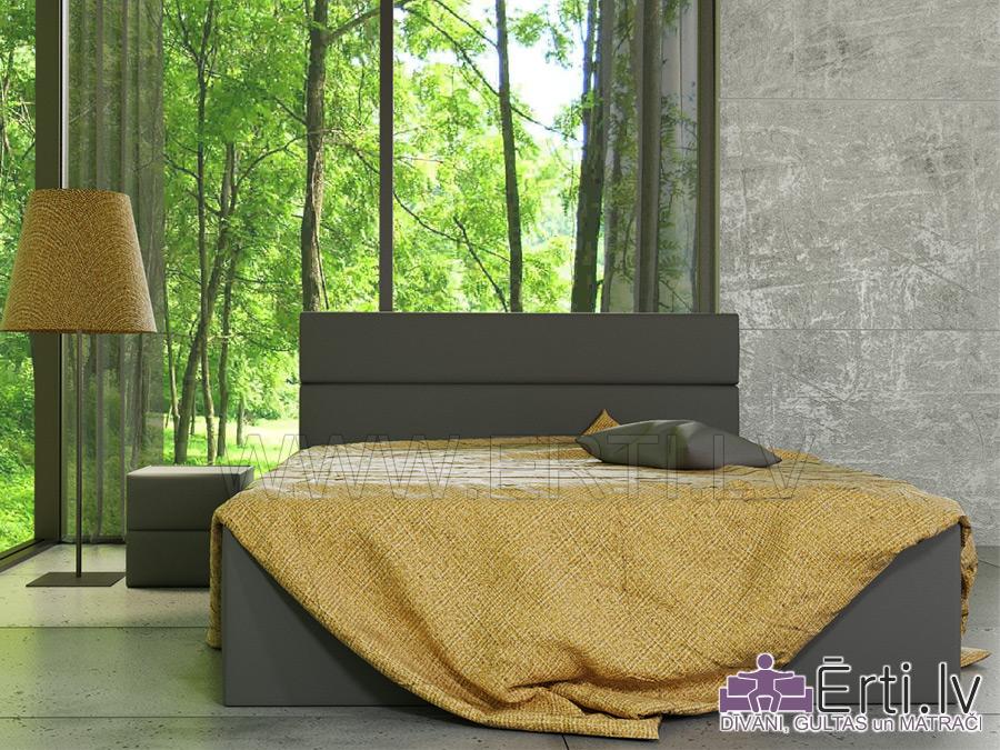 Romeo – Стильная кожаная кровать с очень мягким изголовьем.