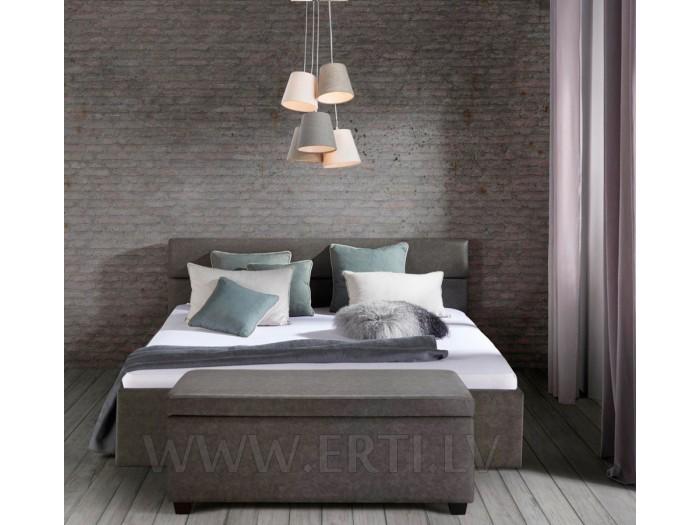 Romeo – Stilīga ādas gulta ar ļoti mīkstu galvgali