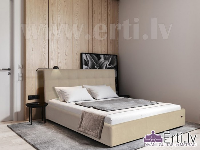 Gulta Chesterbed plus ar veļaskasti + matracis 160x200cm