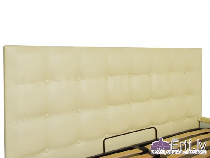 Chesterbed plus – Кровать из ткани или эко-кожи с пуговицами и бельевым ящиком