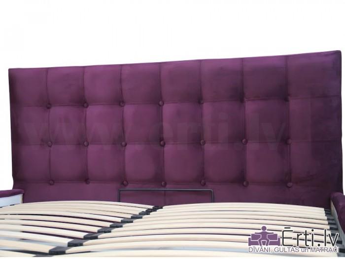 Chesterbed LUX – Vienkārša un eleganta eko-ādas gulta ar nošuvēm un PADZIĻINĀTU veļas kasti