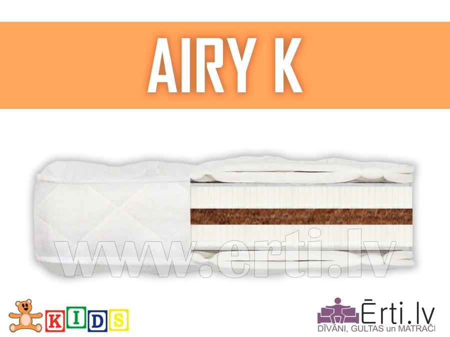 Airy K – Hipoalerģisks bērnu matracis ar kokosu