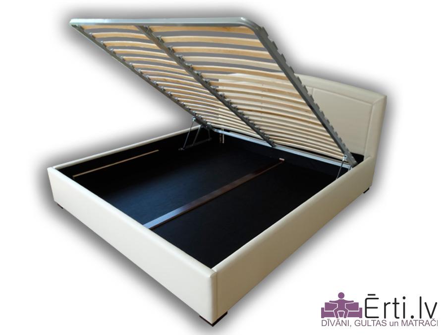 Classic LUX plus – Mūsdienīga gulta ar veļaskasti