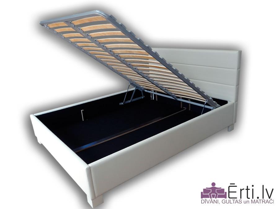 Horizon LUX plus – Mūsdienīga gulta ar veļaskasti