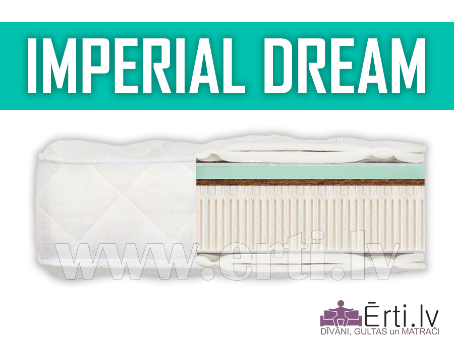 Imperial Dream – Elitārs lateksa matracis ar Memory efektu
