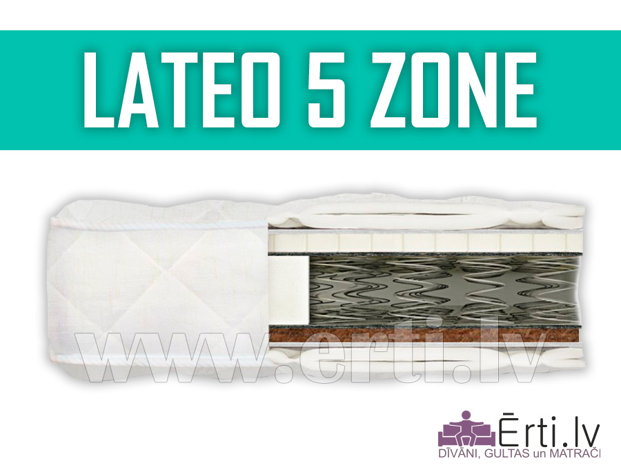 Lateo 5 Zone – Komfortabls matracis ar lateksu