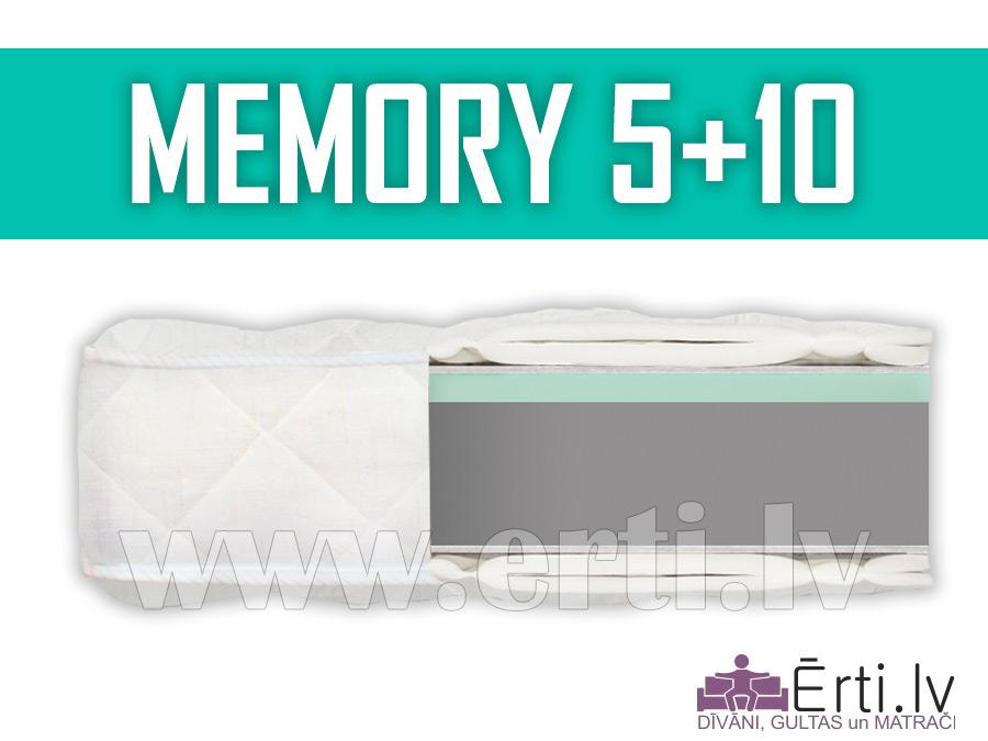 Memory 5+10 – Bezatsperu matracis ar atmiņas efektu