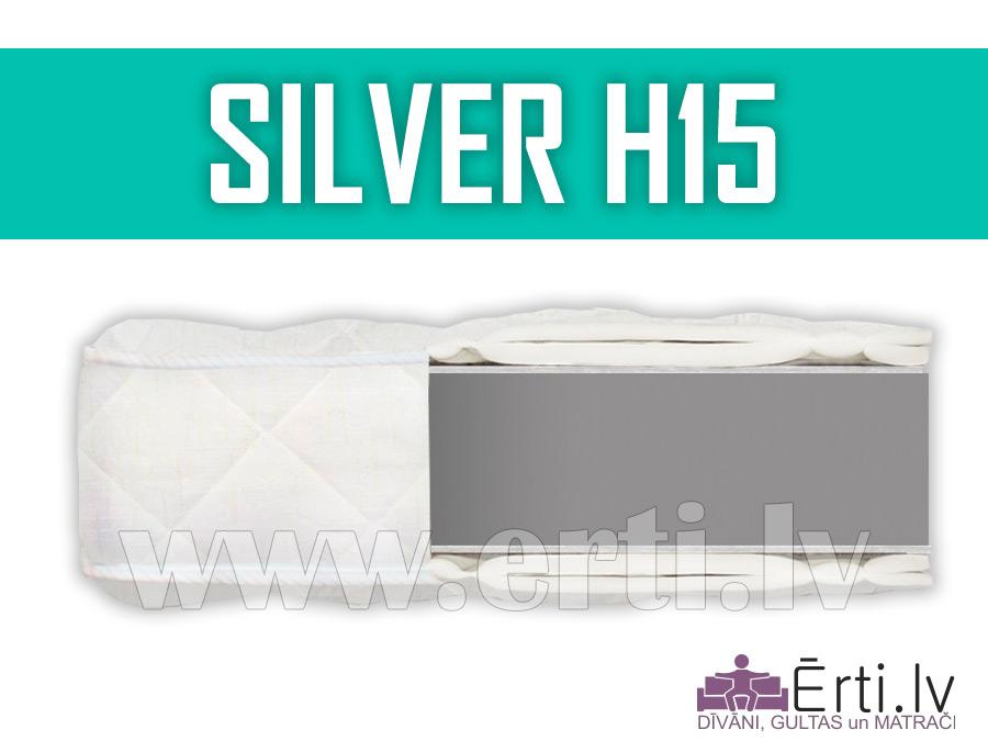 Silver H15 – Komfortabls bezatsperu matracis.