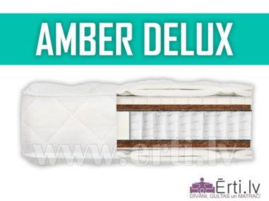 Amber Delux – Elitārs matracis ar lateksu un kokosriekstu šķiedru.