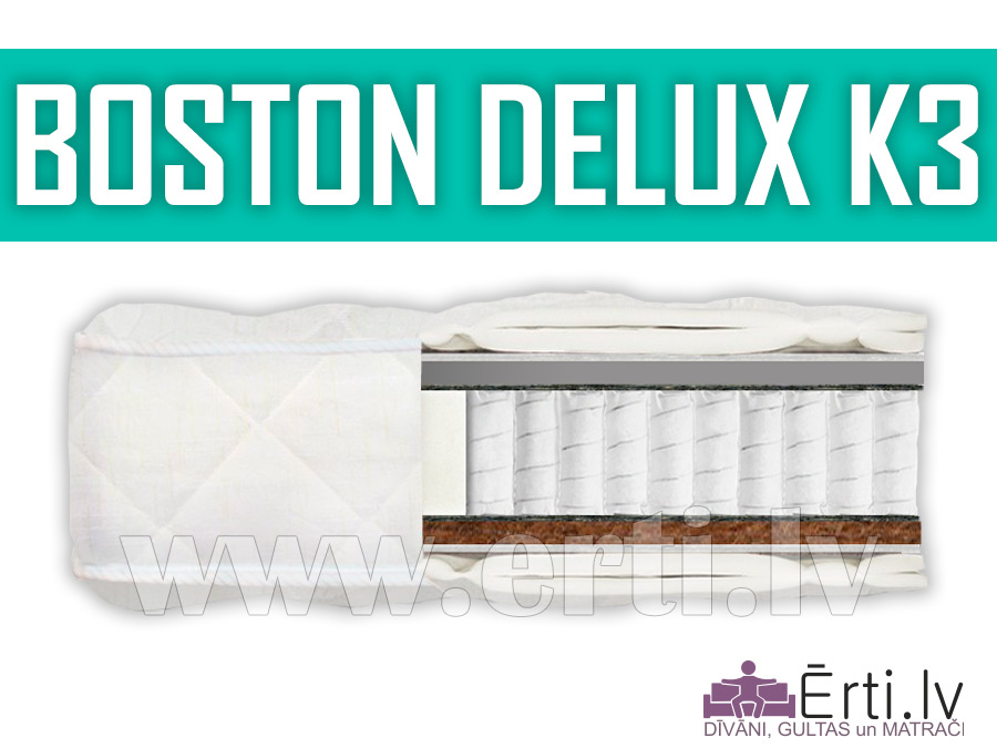 Boston DeLux K3 – Multi Pocket matracis ar kokosu