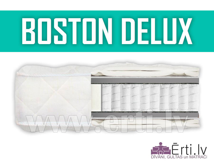 Boston DeLux – Vidēji ciets anatomisks matracis