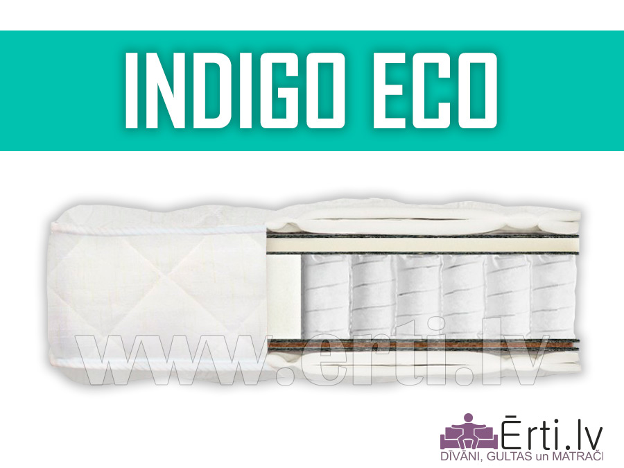 Indigo ECO – Ortopēdisks pocket matracis ar kokosu