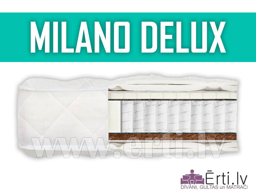 Milano DeLux – Kvalitatīvs gultas matracis ar lateksu un kokosa šķiedru