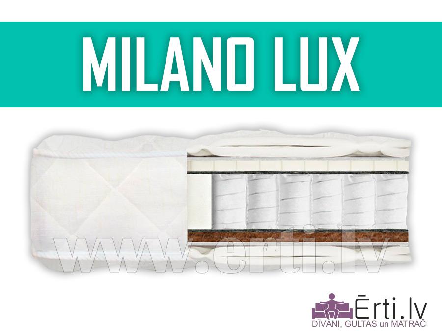 Milano Lux – Kvalitatīvs matracis ar lateksu un kokosa šķiedru