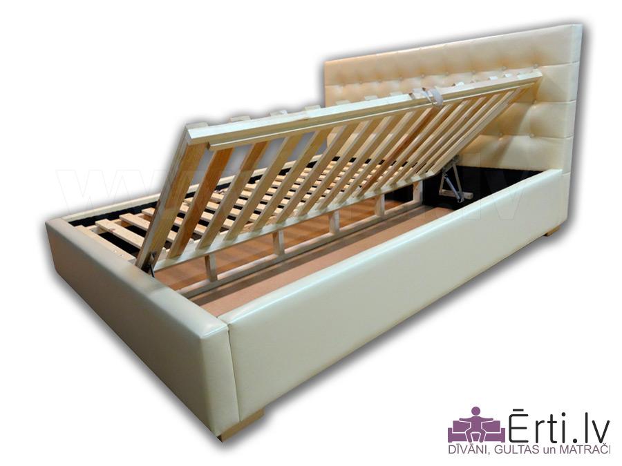 Oniks II B – Современная кровать из эко-кожи с ящиком для белья