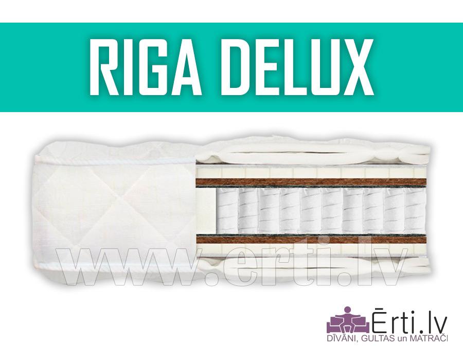 Riga DeLux – Elitārs matracis ar gaisīgo lateksu un stingro kokosriekstu šķiedru