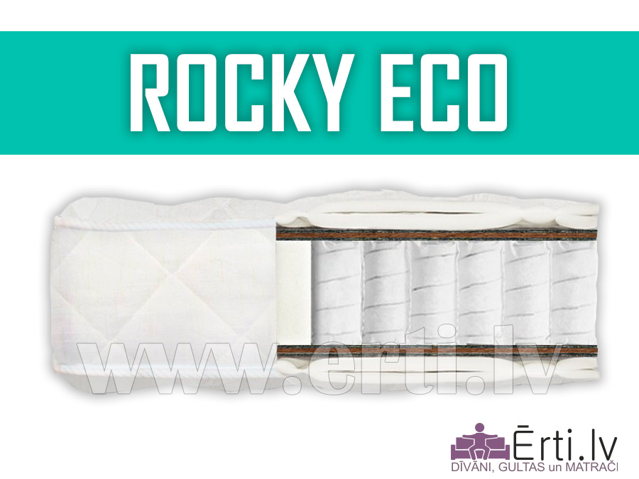 Rocky ECO – Ortopēdisks pocket matracis ar kokosu