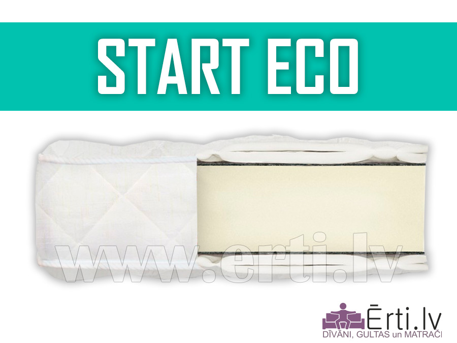 Start ECO – Lēts bezatsperu matracis ar ortopedisko efektu