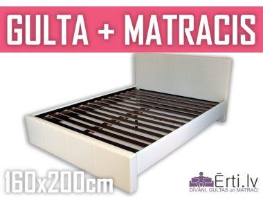 Gulta Melisa + matracis 160x200cm