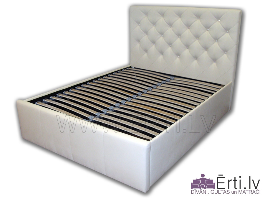 Royal LUX – Современная кровать с бельевым ящиком и красивым изголовьем