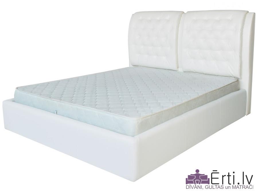Vegas LUX – Klasiski skaista auduma vai eko-ādas gulta ar pogām un PADZIĻINĀTU veļaskasti