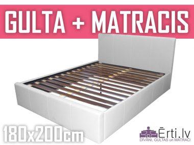 Gulta Ella komplektā ar matraci 180x200cm