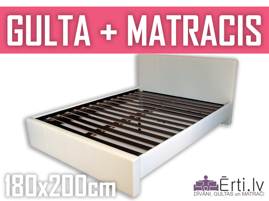 Gulta Melisa + matracis 180x200cm