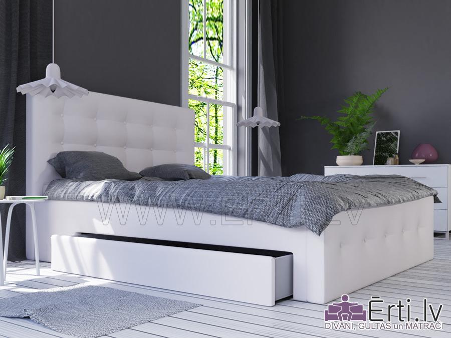 Art LUX – Современная кровать спуговицами бельевым ящиком