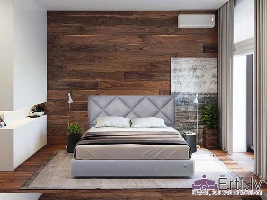 Leeds plus – Dizainiski skaista eko-ādas gulta ar veļaskasti