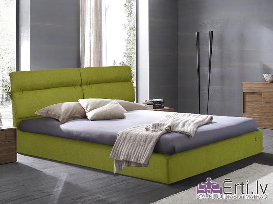 Edinburgh LUX – Ērta un skaista eko-ādas gulta ar PADZIĻINĀTU veļaskasti