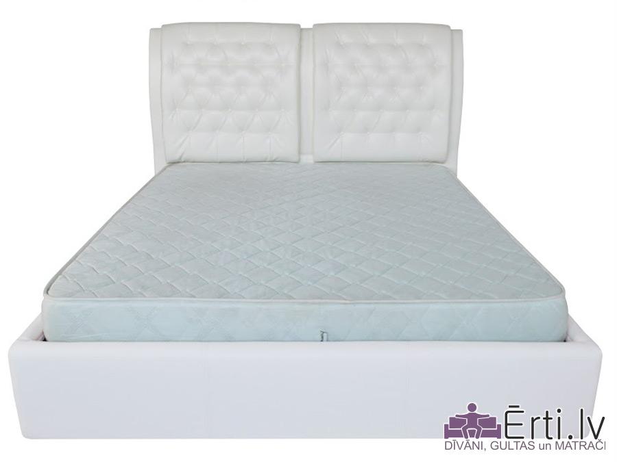Vegas plus – Klasiski skaista auduma vai eko-ādas gulta ar pogām un veļaskasti