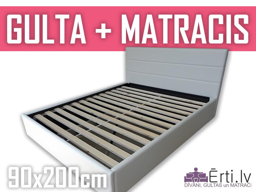Gulta Horizont + matracis 90x200cm