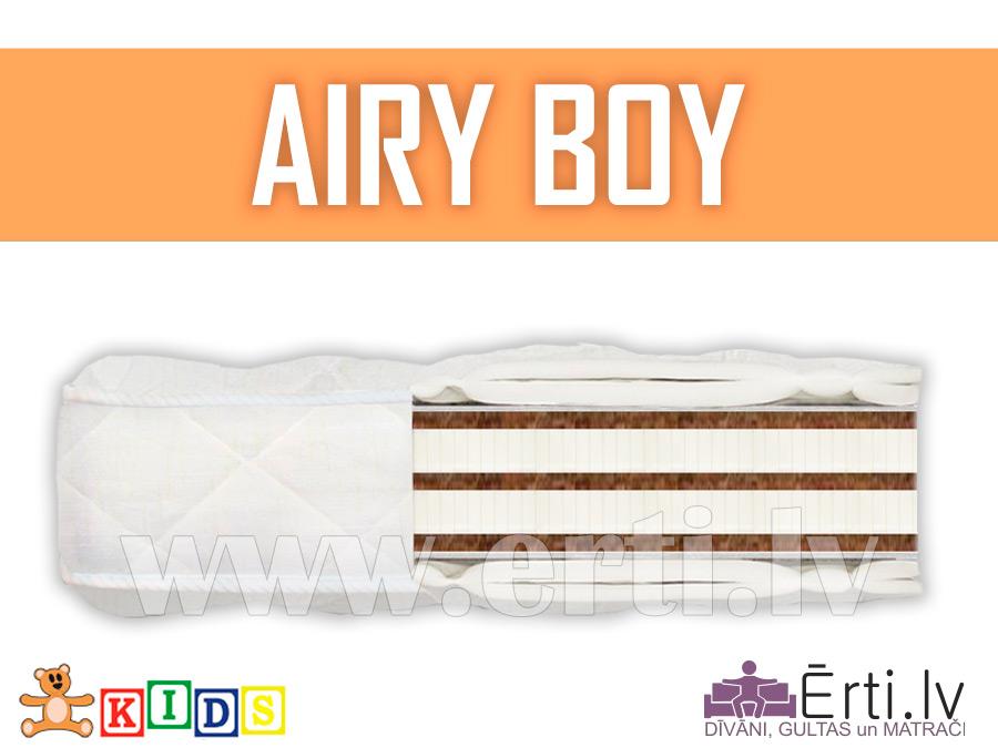 Airy Boy – Hipoalerģisks bērnu matracis ar kokosu