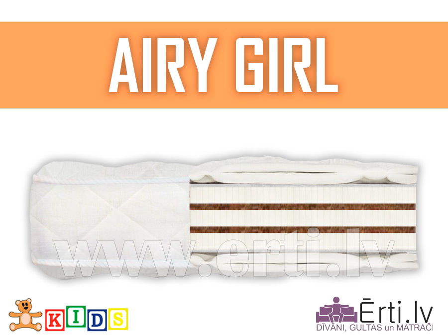 Airy Girl – Гипоаллергенный Детский Матрас С Кокосом