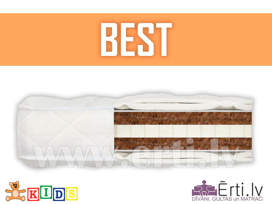 Best – stingrs un dabīgs bērnu matracis ar kokosu un lateksu